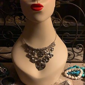 Premier Designs silver tone necklace